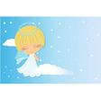 angel looking over shoulder vector image vector image