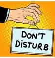 Hand sign do not disturb vector image