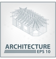 Architecture house project vector image