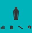 bar shaker icon flat vector image