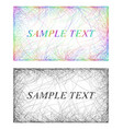 Colorful and monochrome card frame designs vector image