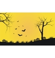 Halloween yellow backgrounds silhouette vector image
