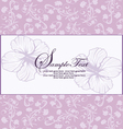 purple floral invitation vector image