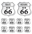 route 66 black and white stickers vector image