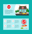 sushi house horizontal flyers vector image