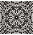 White graphic flower pattern on dark background vector image