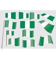 flags of Nigeria vector image vector image