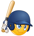 baseball batter emoticon vector image