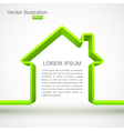 Green house outline vector image vector image