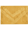 Old shabby sealed envelope vector image vector image