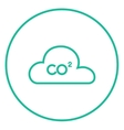 CO2 sign in cloud line icon vector image