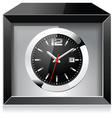 Clock in the Black box vector image vector image