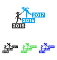 annual gentleman help flat icon vector image
