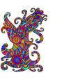 bright ethnic multicolored pattern decorative vector image