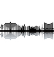 Cityscape silhouettes vector image