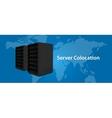 Colocation server web hosting services vector image