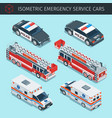 emergency service cars vector image