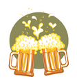 glasses of beervector color symbol of illustration vector image