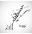 Hand drawing graph vector image