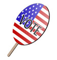 isolated voting paddle vector image