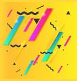 memphis style trendy vector image