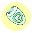 outline epilator icon hair removal unit vector image