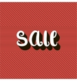 Sale text message on red backgroundRetro style vector image