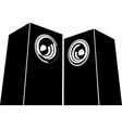 sound-system speaker icon in black and white vector image