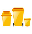 three different sizes of trashcan vector image