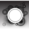 Circles background with place for your text vector image
