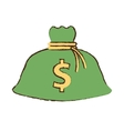 drawing money bag business finance vector image