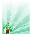 A green circus tent in a wallpaper design vector image vector image