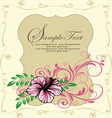 ornate floral frame invitation card vector image
