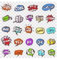 doodle speech clouds icons set vector image