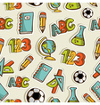 Back to School sketch icon set pattern vector image