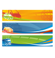 Set of contemporary transport banners vector image vector image