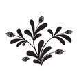 black silhouette of floral element vector image