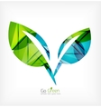 Abstract green leaf concept vector image