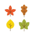 Autumn leaves icon flat style vector image