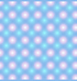 blue pattern with pink and blue glowing circles vector image