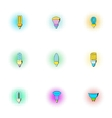 Light icons set pop-art style vector image
