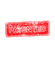 patented red grunge rubber stamp vector image