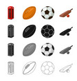 red telephone booth rugby ball and football vector image