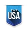 USA blue ribbon vector image
