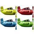 Airplanes in four different colors vector image