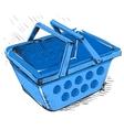 Supermarket food basket vector image vector image