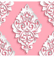 damask seamless pattern element elegant luxury vector image