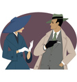 1950s couple vector image