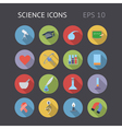 Flat icons for science and education vector image