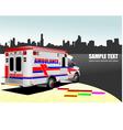 al 0743 ambulance vector image